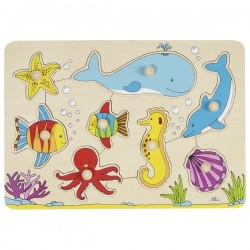 Underwater world, lift-out puzzle - GOK-8657953 - Goki - Wooden Puzzles - Le Nuage de Charlotte