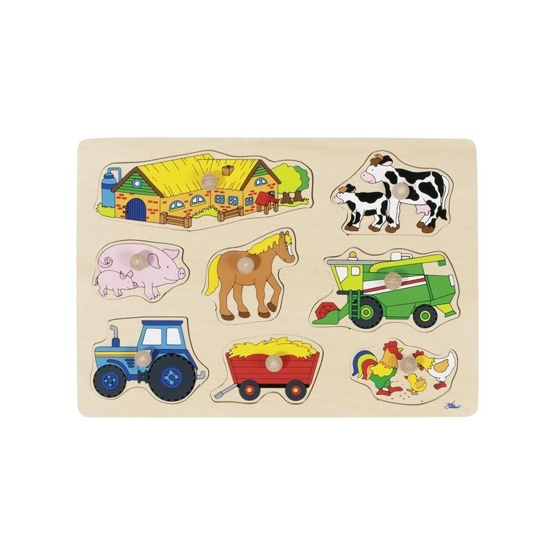 Farm II, lift-out puzzle - GOK-8657909 - goki - Wooden Puzzles - Le Nuage de Charlotte