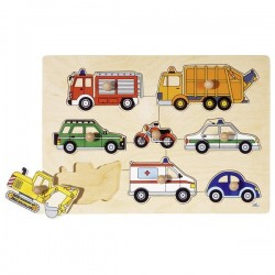 Means of transport, lift-out puzzle - GOK-8657996 - goki - Wooden Puzzles - Le Nuage de Charlotte