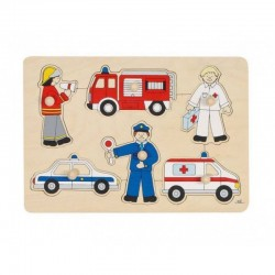 Means of transport, lift-out puzzle - GOK-8657632 - Goki - Wooden Puzzles - Le Nuage de Charlotte