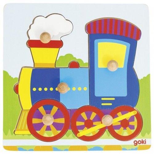 Puzzle locomotive - GOK-8657551 - Goki - Puzzle en bois - Le Nuage de Charlotte