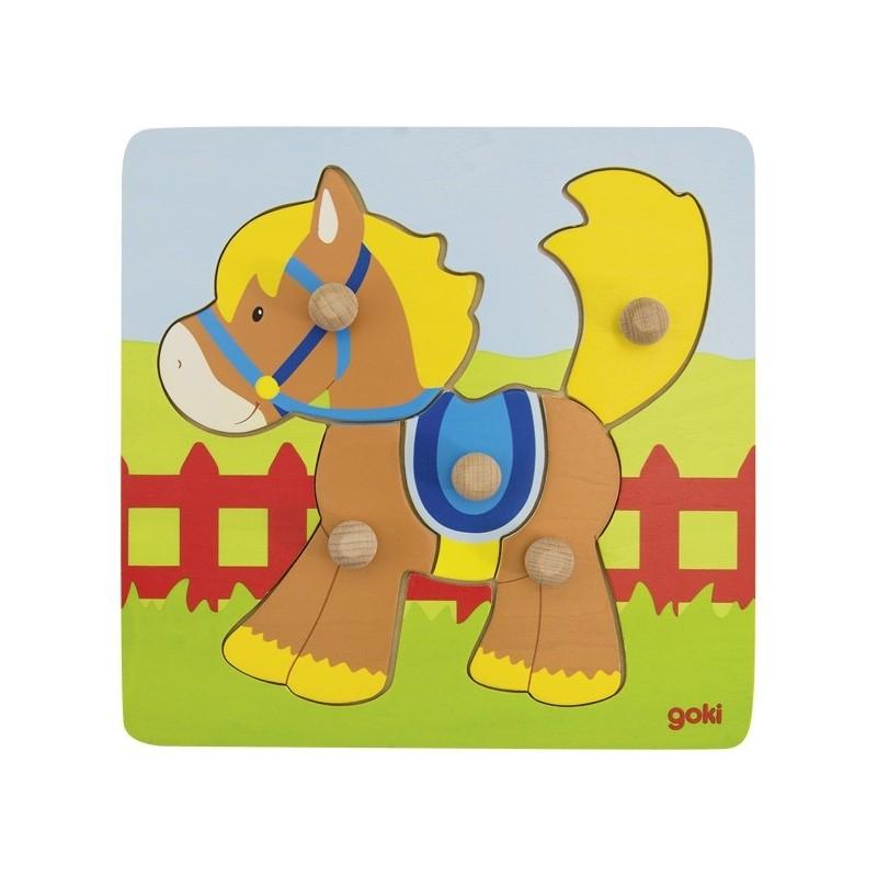 Lift-out puzzle horse - GOK-8657555 - Goki - Wooden Puzzles - Le Nuage de Charlotte