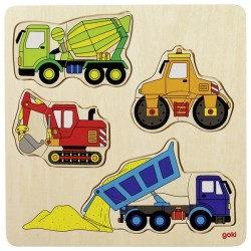 Puzzle building site vehicles - GOK-8657901 - Goki - Wooden Puzzles - Le Nuage de Charlotte