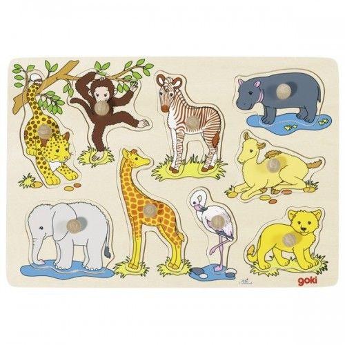 Bébés animaux, puzzle à encastrements - GOK-8657829 - goki - Puzzle en bois - Le Nuage de Charlotte