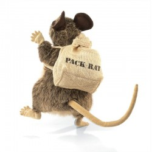 Rat avec sac - FLK2847 - Folkmanis - Marionettes à main - Le Nuage de Charlotte