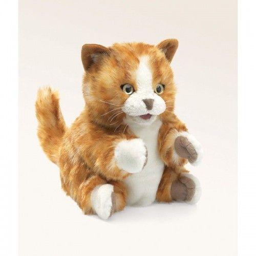 Orange Tabby Kitten - FLK2845 - Folkmanis - Hand Puppets - Le Nuage de Charlotte
