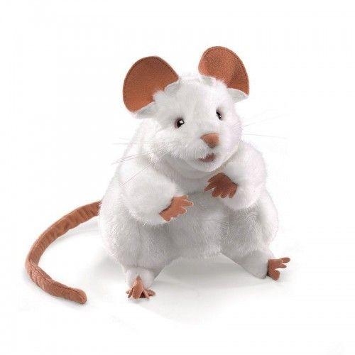 White Mouse - FLK2219 - Folkmanis - Hand Puppets - Le Nuage de Charlotte