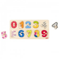 Background puzzle learn to count - GOK-8657480 - Goki - Wooden Puzzles - Le Nuage de Charlotte