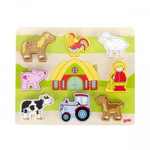 Puzzle, our farm - GOK-8657478 - Goki - Wooden Puzzles - Le Nuage de Charlotte