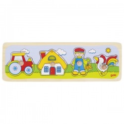 Lift out puzzle, A visit to the farm - GOK-8657493 - Goki - Wooden Puzzles - Le Nuage de Charlotte