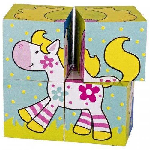 Cube puzzle, my friends, Susibelle - GOK-8657511 - goki - Wooden Puzzles - Le Nuage de Charlotte