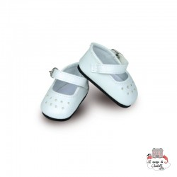 White Shoes - PCO-P603902 - Petitcollin - Doll's Accessories - Le Nuage de Charlotte