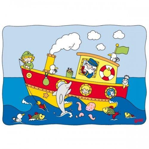 Sliding puzzle, boat
