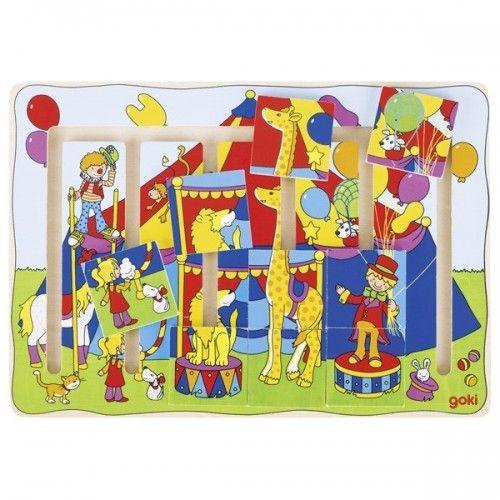 Sliding puzzle, circus show