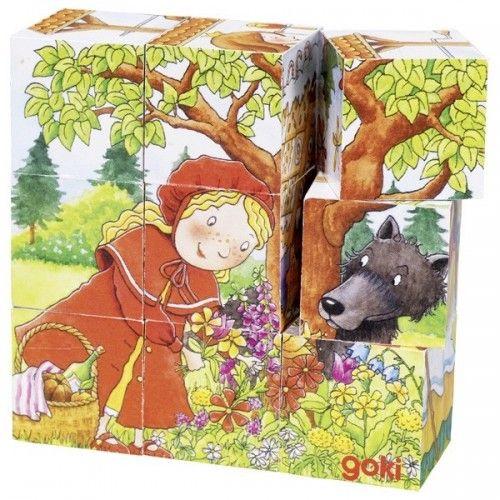 Contes, puzzle de cubes - GOK-8657542 - goki - Puzzle en bois - Le Nuage de Charlotte