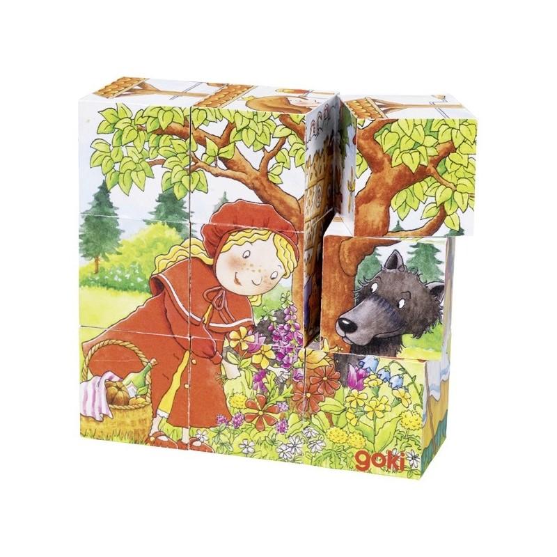 Fairy Tale, cube puzzle - GOK-8657542 - goki - Wooden Puzzles - Le Nuage de Charlotte