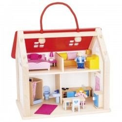 Suitcase Doll's house with accessories - GOK-8651780 - Goki - Doll's Houses - Le Nuage de Charlotte