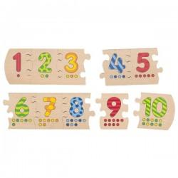 Number puzzle 1 - 10 - GOK-8657012 - Goki - Wooden Puzzles - Le Nuage de Charlotte