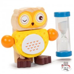 Owl Toothbrush Timers - Yellow - TOB21635J - Tobar - In the Bathroom - Le Nuage de Charlotte