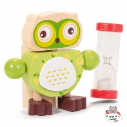 Owl Toothbrush Timers - green - TOB21635V - Tobar - In the Bathroom - Le Nuage de Charlotte