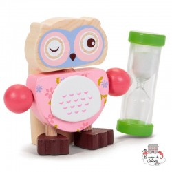 Owl Toothbrush Timers - pink - TOB21635R - Tobar - In the Bathroom - Le Nuage de Charlotte