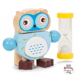 Owl Toothbrush Timers - blue - TOB21635B - Tobar - In the Bathroom - Le Nuage de Charlotte