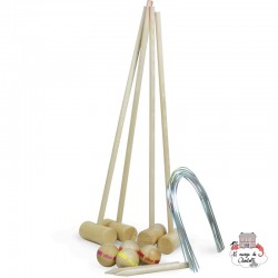 Junior Croquet for 4 players - VIL-4084S - Vilac - Outdoor Play - Le Nuage de Charlotte