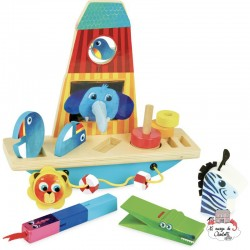 Multi-activity Noah's ark - VIL-2474 - Vilac - Activity Toys - Le Nuage de Charlotte