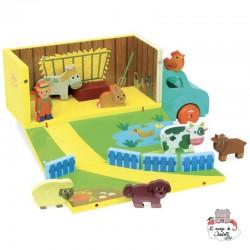 Itinerant Farm (Farm set in truck) - VIL-2330 - Vilac - Fantasy World - Le Nuage de Charlotte
