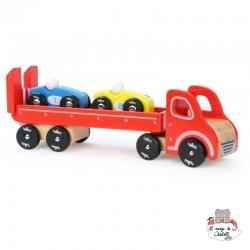 Truck & trailer with 2 cars - VIL-2323 - Vilac - Cars - Le Nuage de Charlotte