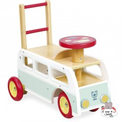 2 in 1 retro bus - VIL-1011S - Vilac - Ride-on - Le Nuage de Charlotte