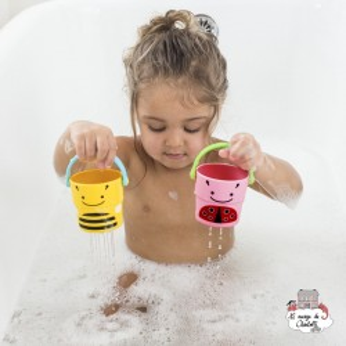 Zoo stack & pour buckets - SKP235355 - Skip Hop - Water Play - Le Nuage de Charlotte