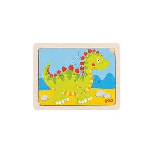 Puzzle dinosaur - GOK-8657487 - Goki - Wooden Puzzles - Le Nuage de Charlotte
