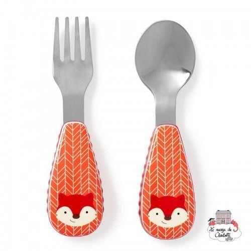 Zootensils Fork & Spoon - Fox