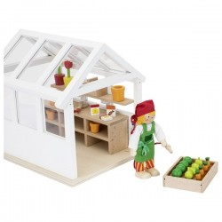 Greenhouse with accessories - GOK0058 - goki - Doll's Houses - Le Nuage de Charlotte