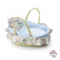 Baby Basket in natural palm - PCO-P800095 - Petitcollin - Doll's Accessories - Le Nuage de Charlotte