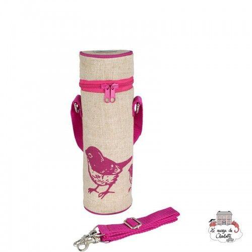 Pink Birds Bottle Bag Uncoated - SOYBB-PIBI-RU - SoYoung - Cooler Bag - Le Nuage de Charlotte