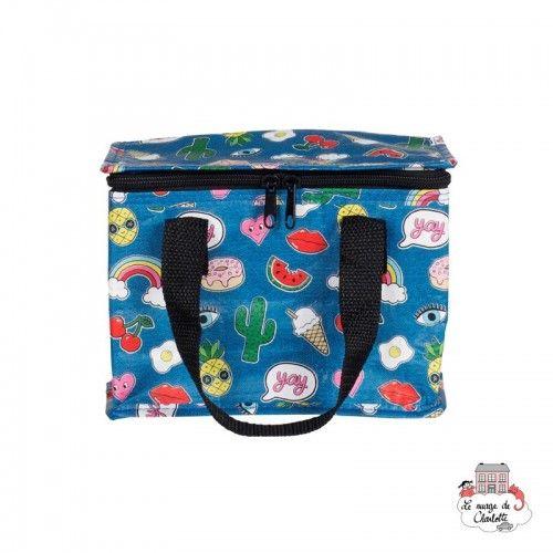 Patches and Pins Lunch Bag - S&BTOTE078 - Sass & Belle - Cooler Bag - Le Nuage de Charlotte