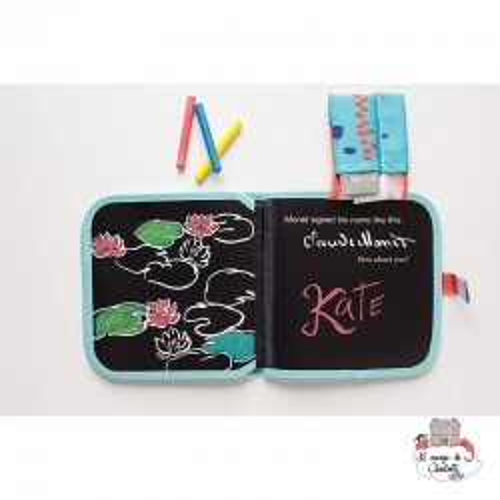 "Chalk Book ""Monet"" - JJBCCB-MT - Jaq Jaq Bird - Drawing and Coloring - Le Nuage de Charlotte"