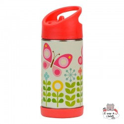 """""""Butterfly"""" stainless steel water bottle - PTC-5074367 - Petit Collage - Eat and Drinks - Le Nuage de Charlotte"""