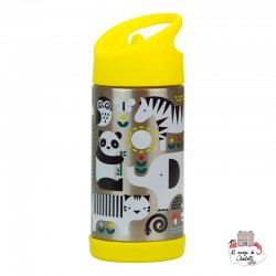 """""""Animals"""" stainless steel water bottle - PTC5074368 - Petit Collage - Eat and Drinks - Le Nuage de Charlotte"""