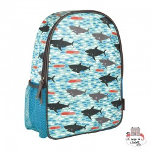 "Backpak ""sharks"" - PTC-5074918 - Petit Collage - Backpacks - Le Nuage de Charlotte"