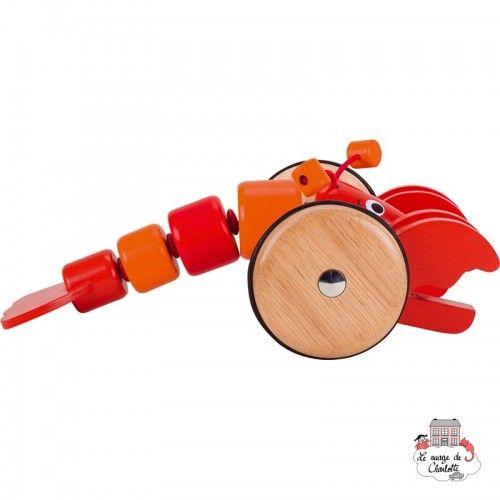 "Pull-along Animal ""Lobster"" - GOK-8654904 - Goki - Pull Along Toys - Le Nuage de Charlotte"