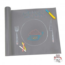 Reusable Table Runner (Gray) - JJBCT-GREY - Jaq Jaq Bird - Drawing and Coloring - Le Nuage de Charlotte