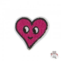 "Iron Patch Accessory ""Pink Flirty Face Heart"" - S&BEVA026 - Sass & Belle - Iron Patch - Le Nuage de Charlotte"