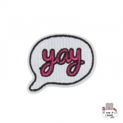 "Iron Patch Accessory ""Pink Yay Bubble"" - S&BEVA027 - Sass & Belle - Iron Patch - Le Nuage de Charlotte"