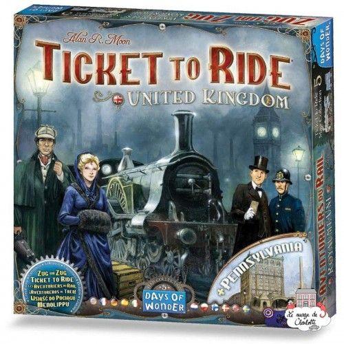 Aventuriers du Rail - Ext. United Kingdom + Pennsylvania - DOW-75151 - Days of Wonder - Board Games - Le Nuage de Charlotte