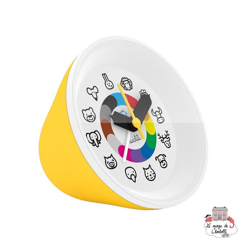 Twistiti Alarm Clock - Yellow - TWI0020 - Twistiti - Clocks & Alarm Clocks - Le Nuage de Charlotte