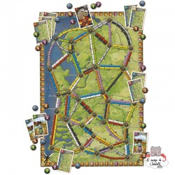 """Ticket to Ride - Map Col. 4 """"Nederland"""" - DOW-75130 - Days of Wonder - Board Games - Le Nuage de Charlotte"""