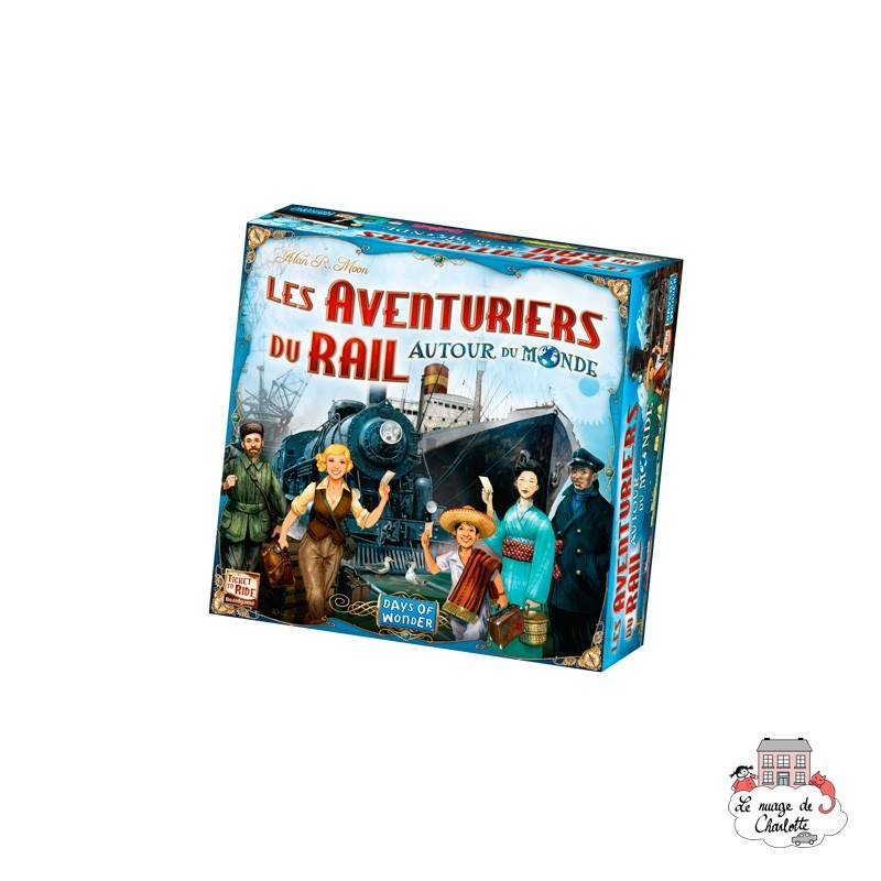 Ticket to Ride - Around the World - DOW-75136 - Days of Wonder - Board Games - Le Nuage de Charlotte